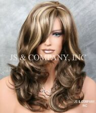 Back in Stock Curly/wavy Layered Brown Blonde mix  Wig bangs jsbc 8/12/24