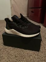 Adidas Alphaboost Fw4544 Running Shoes Black Men's Size 11.5 Replacement Box New