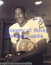 """Broncos GENE MINGO B/W 8x10 Photo #2 Inscribed """"ROF 14"""""""