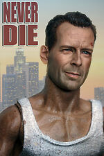 "Die Hard 1/6 Bruce Willis Head Carving Toy F 12"" Male Muscular Hot Toys Figures"