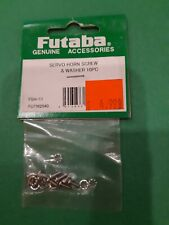 FUTABA #  FUTM2040 SERVO HORN SCREW & WASHER 10 PC FSH-11 NEW IN PKG.