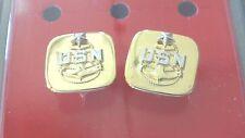 USN US NAVY ALL SCPO E-8 RATES GOLD MESS & EVENING DRESS SHIRT CUFF LINK SET
