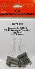 Quickboost 1/72 Junkers Ju88G-6 VS11 Wooden Propeller with Tool