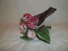 "1991 Lenox Purple Finch Porcelain Bird Collection. 3 1/2"" Tall"