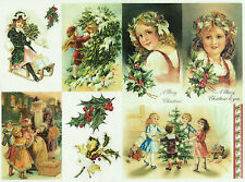 Carta DI RISO PER DECOUPAGE SCRAPBOOKING sheetscraft Felice Natale 2