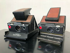 Polaroid SX-70 Land Camera Alpha 1 Model 2, 2 Cameras as is, with 1 Leather Case