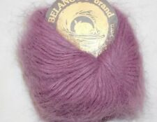 AUBERGINE Violet Skein Galler BELANGOR Pure ANGORA Rabbit Fur X-SOFT Luxury Yarn