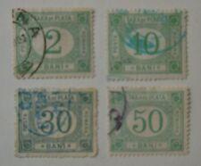 Stamp Romania Taxa de Plata Postage Due Numeral Green 2/10/30/50 Bani Used