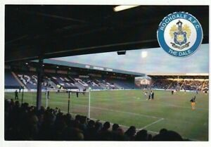 A Football Postcard of Rochdale A.F.C. The Dale. (With Strange Incorrect Back)