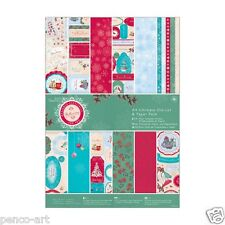 Papermania A4 Bellissima Christmas Ultimate die cut 48 sheets paper pack snow