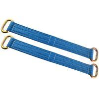 "Wheel Bridging / Link / Strap (pair) Trailer Tie Down Car Recovery 16"" SM001"