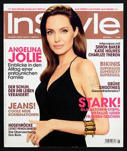 IN STYLE Deutschland Germany Magazine June 2014 - ANGELINA JOLIE