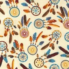 Fat Quarter Native American DREAMCATCHERS 100% coton quilting tissu C5159
