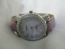 Armitron Watch with Rhinestone Accents & Leather Buckle Band WORKING!
