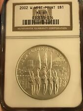 2002 W Commemorative Silver Dollar West Point S$1 NGC MS69