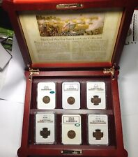 1864-1869 TWO CENT PIECE (NGC MS63 & MS64)CACS- 2cent CIVIL WAR ERA BOX & COINS