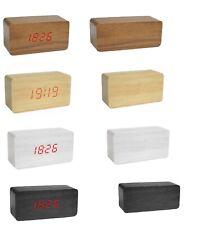 Sveglia orologio digitale led effetto legno con suono allarme e temperatura 1295