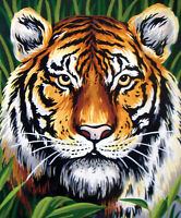1x Printed Tapestry Thread Canvas Tiger Sewing Craft Tool Hobby Art UK 6253