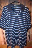 Polo Ralph Lauren Blue Stripe Cotton Large Short Sleeve Men's Shirt