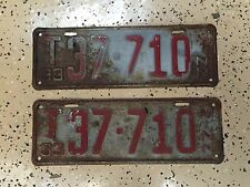 "1933 Minnesota License Plates ""T"" Designation"