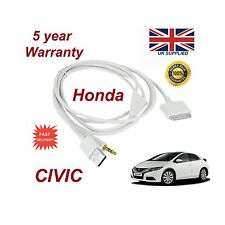 Para Honda Civic Iphone 3gs 4 4S Ipod USB & 3.5mm Cable Auxiliar Recambio Blanca
