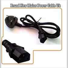Nuevo Cable de red de alimentación para Monitor de computadora Hervidor Plomo De Tv Lcd 3PIN 120cm de largo reino unido