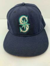 Seattle Mariners MLB New Era 59Fifty Fitted Hat Black Mariner's Logo Size 7 1/4