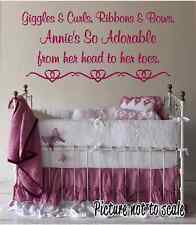 Giggles and Curls Cute quote Nursey wall art Customizable Baby Girl