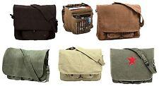Vintage Canvas Shoulder Bags - Stylish Work School Classic Messenger Bag Packs