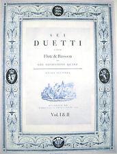 Bassoon Music-Quantz-6 Duets for Flute & Bassoon-Vol 1 & 2