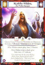 3 x Kakita Hideo, the Fallen Keeper (Exp2)  L5R CCG CoM