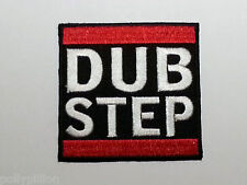 ROCK PUNK METAL MUSIC SEW / IRON ON PATCH:- DUB STEP RED WHITE & BLACK BLOCK