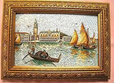 Antique Venetian Micro Mosaic Scene from Venice ca 1895 Very Fine and Colorful