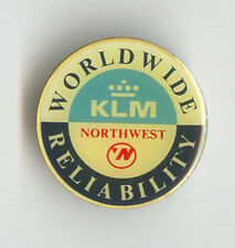 KLM Royal Dutch & Northwest Airlines Alliance LOGO Badge