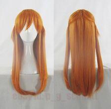 EVA Asuka Langley Soryu Orange Straight Anime Cosplay Costume Wig + Free wig cap