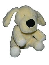 Piccolo Bambino Yellow Plush Puppy Dog Rattle Baby Toy Lovey Bow 6""