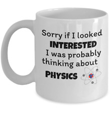 Science lover coffee mug - thinking about physics - Funny Physicist joke gift