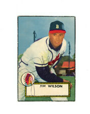 JIM WILSON signed 1952 TOPPS baseball card #276 BRAVES Rookie