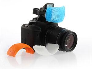 Universal 3 Color Diffuser Filter Set for DSLR Camera Pop-Up Flashes - UK SELLER