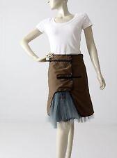 Marni skirt Summer 2011 collection crinoline khaki wrap skirt size S