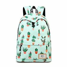 Fashion Leisure Backpack for Girls Teenage School Women Print Purse Cactus 851