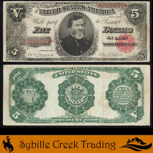 1891 $5 TREASURY NOTE *GENERAL THOMAS* BILL Fr 352   114071
