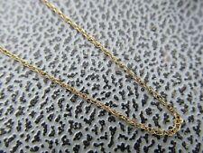 Thin Vintage Collar Cadena de oro amarillo 9ct 17.75 pulgadas de largo