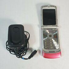 Motorola V3a - Pink Chrome - Alltel / Verizon WORKS! - including charger
