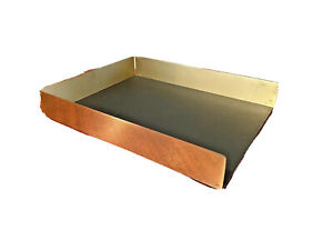 Sklaroff Radius One Vtg Mid Century Smith Metal Brass Modern Letter Paper Tray