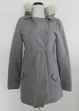 Billabong Peacoat Insulated  Dbl Breasted  Grey  Faux Fur Hood   Cotton  Size S
