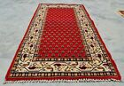 Authentic Hand Knotted Vintage indo Mir Badami Wool Area Rug 4 x 2 (11833 KBN)