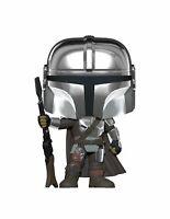 Funko POP! Star Wars The Mandalorian Chrome Mando + Pop protector
