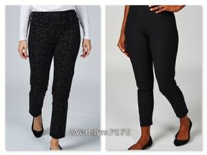 Women with Control Renee's Reversible Tummy Control Trousers Regular, XS, Black