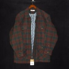 NWT LARGE ECHT PELZ Fashion NEW Wool Lined Zipper Jacket Shirt NEW Plaid